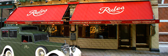 Restaurante Rules Londres