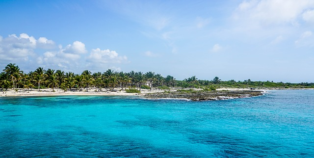 vistas del mar en la isla de Cozumel
