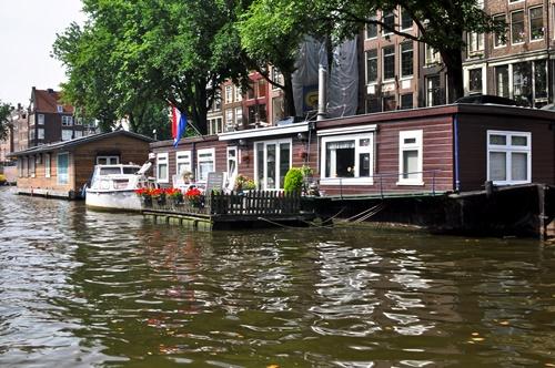 casas flotantes Ámsterdam