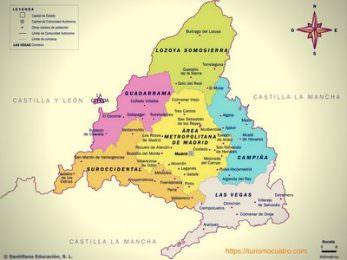 pueblos de Madrid mapa
