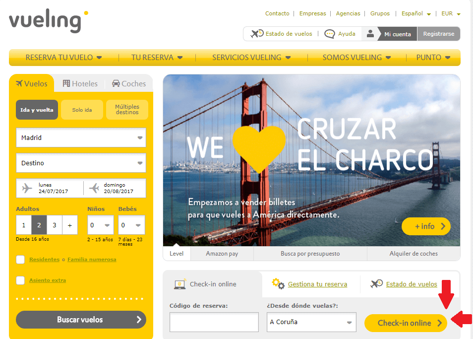 vueling check in online