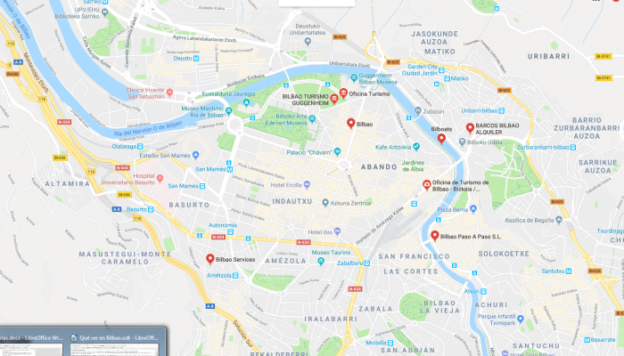 mapa turismo Bilbao