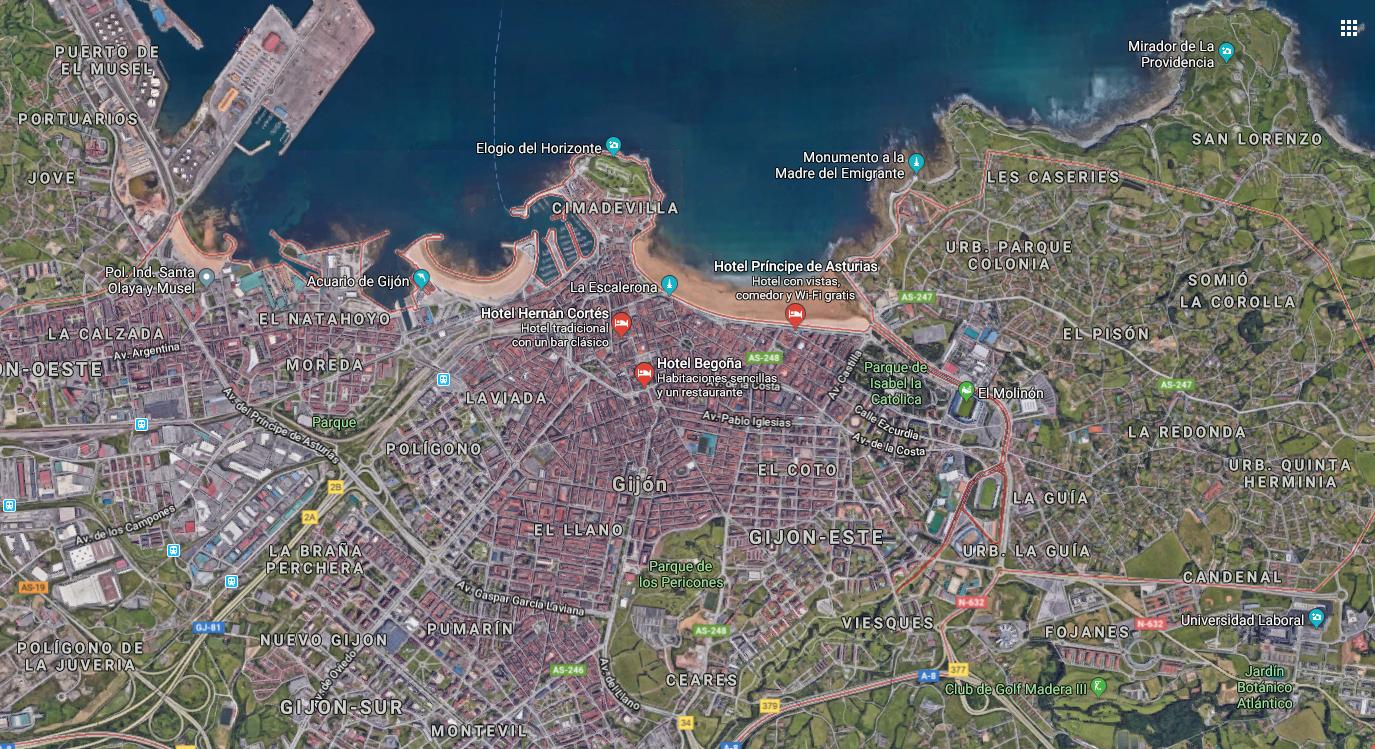 mapa gijon ciudad