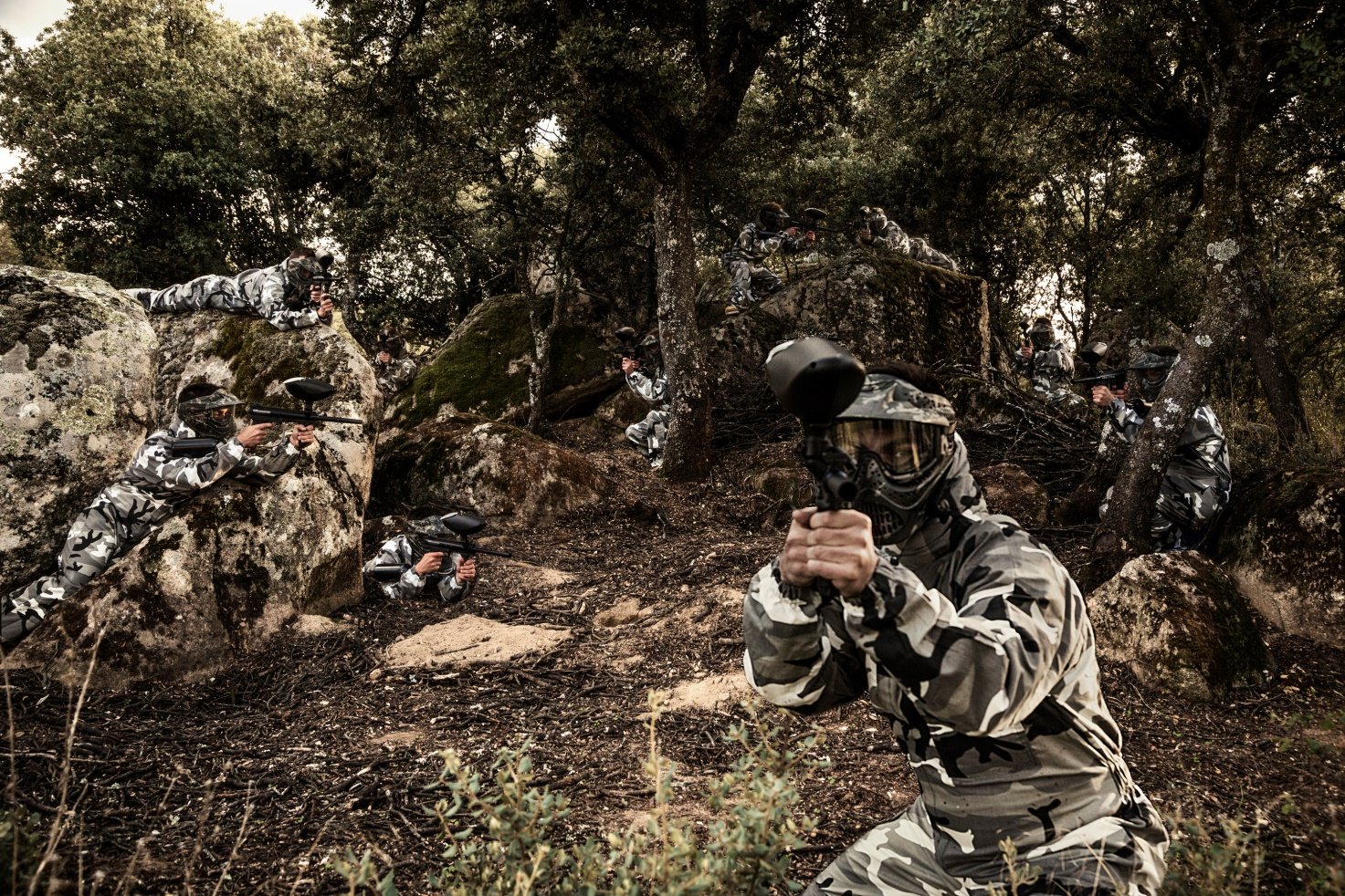 paintball action live madrid