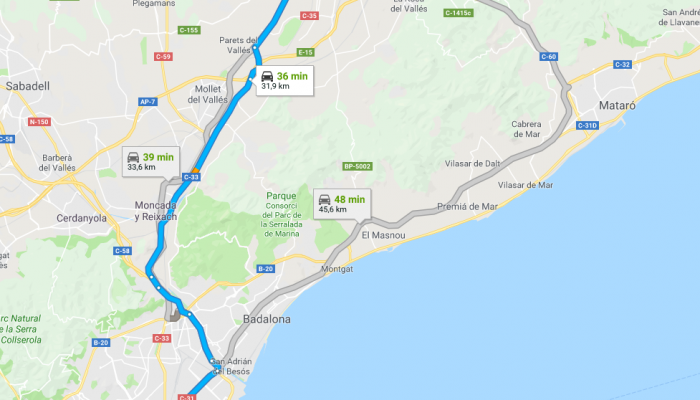 cómo llegar a granollers desde barcelona