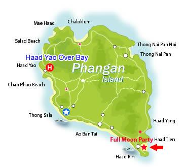 koh phangan mapa qué ver