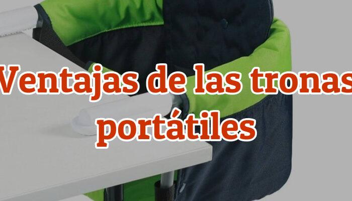ventajas de las tronas portátiles de viaje